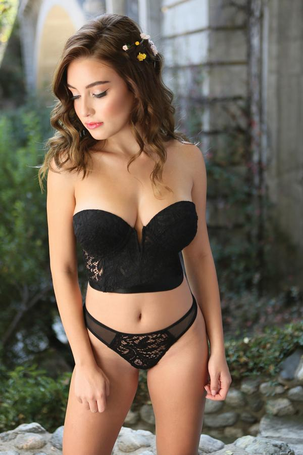 The Midnight Garden Bustier Set