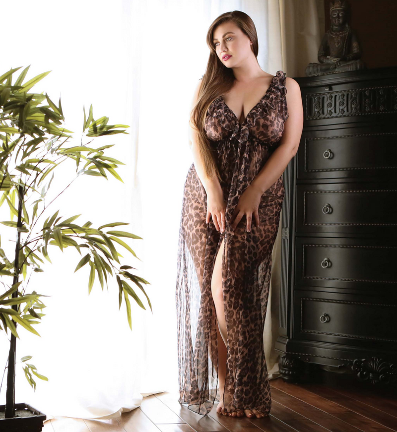 The Leona Wrap Gown