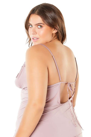The Reina Camisole Top in Mauve - Unlucky Lingerie