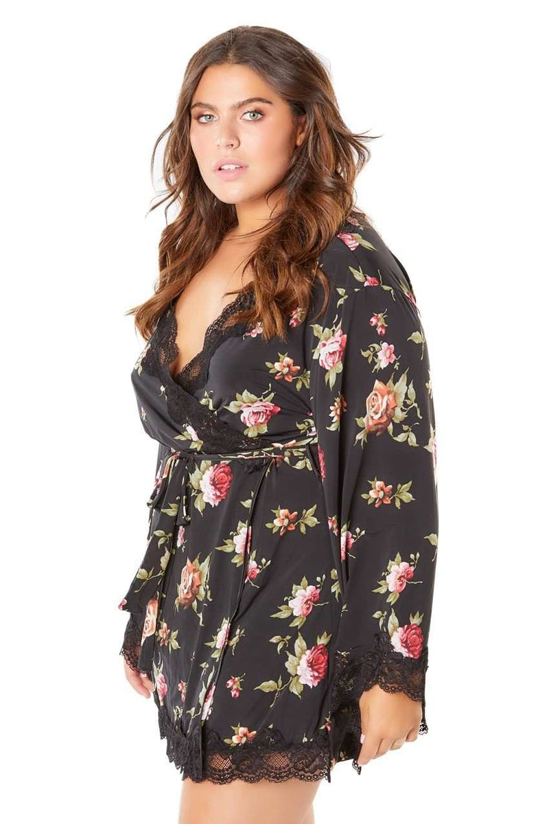 The Reina Butterfly Sleeve Robe - Unlucky Lingerie