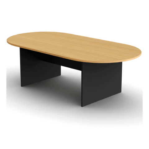 OPD Boardroom Table Beech and Ironstone Finish 2400Wx1200Dx730mmH