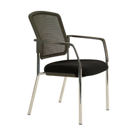 Lindis Chair Black Mesh Back with arms