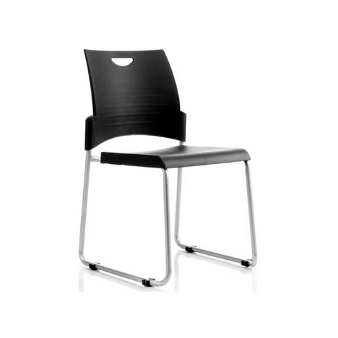 Pronto Chair Black Skid Base