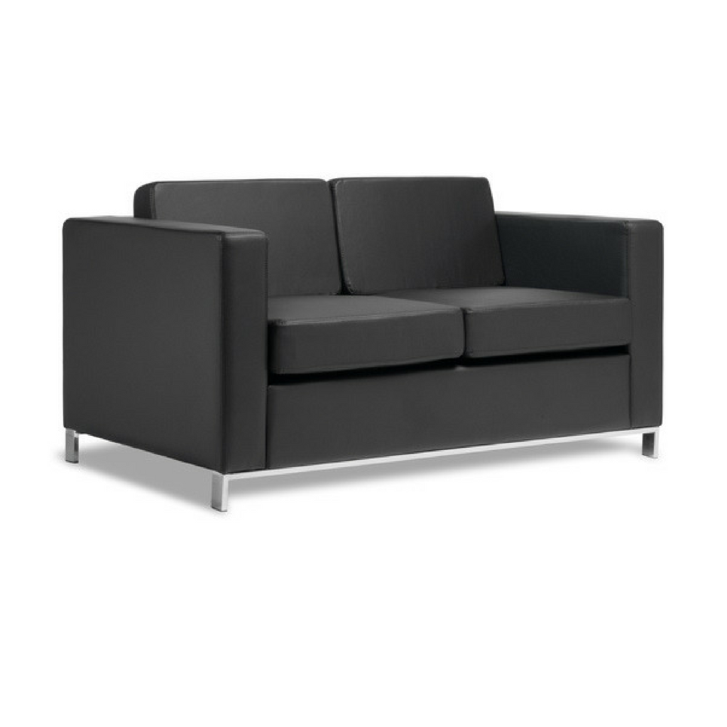 Carlo Seating Black Leather Look Vinyl - available now from Workspace Direct
