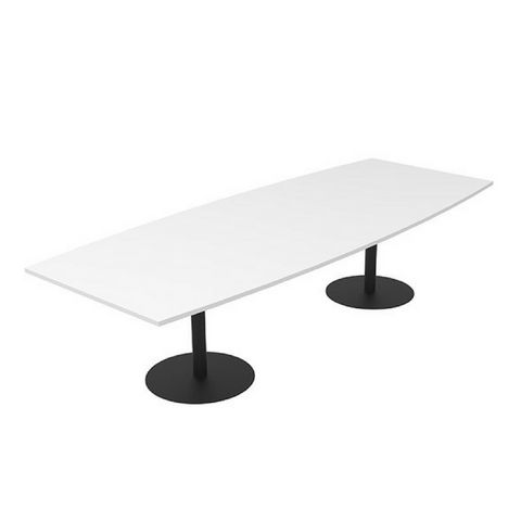 CLASSIC Boardroom Table Bow Black Base