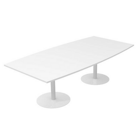 CLASSIC Boardroom Table Bow White  Base
