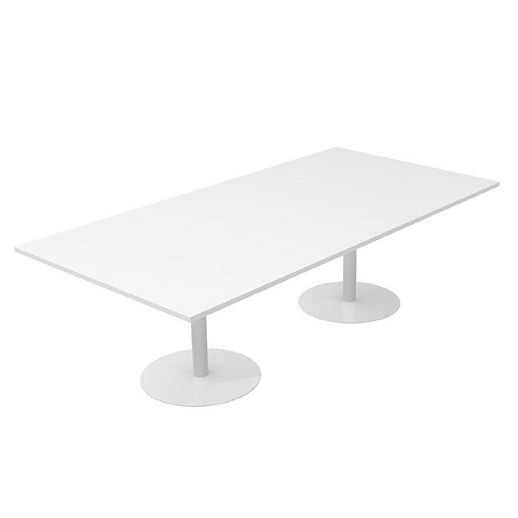 CLASSIC Boardroom Table  Rectangle White Base
