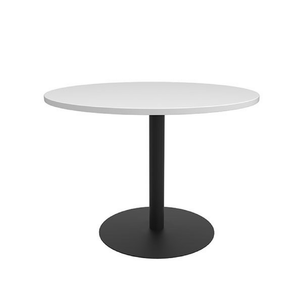CLASSIC Meeting Tables Black Base/White Top