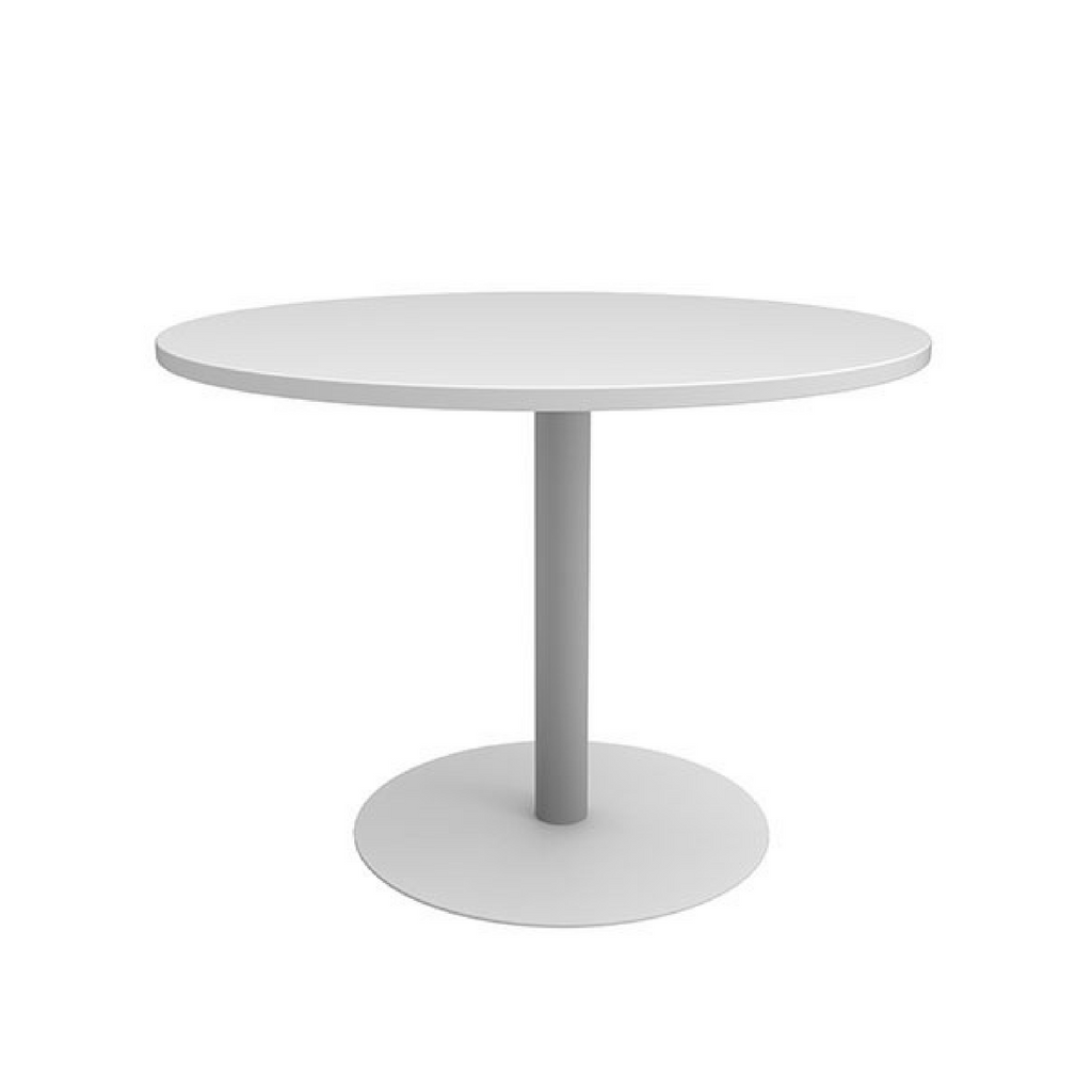 CLASSIC Meeting Tables White Base/White Top