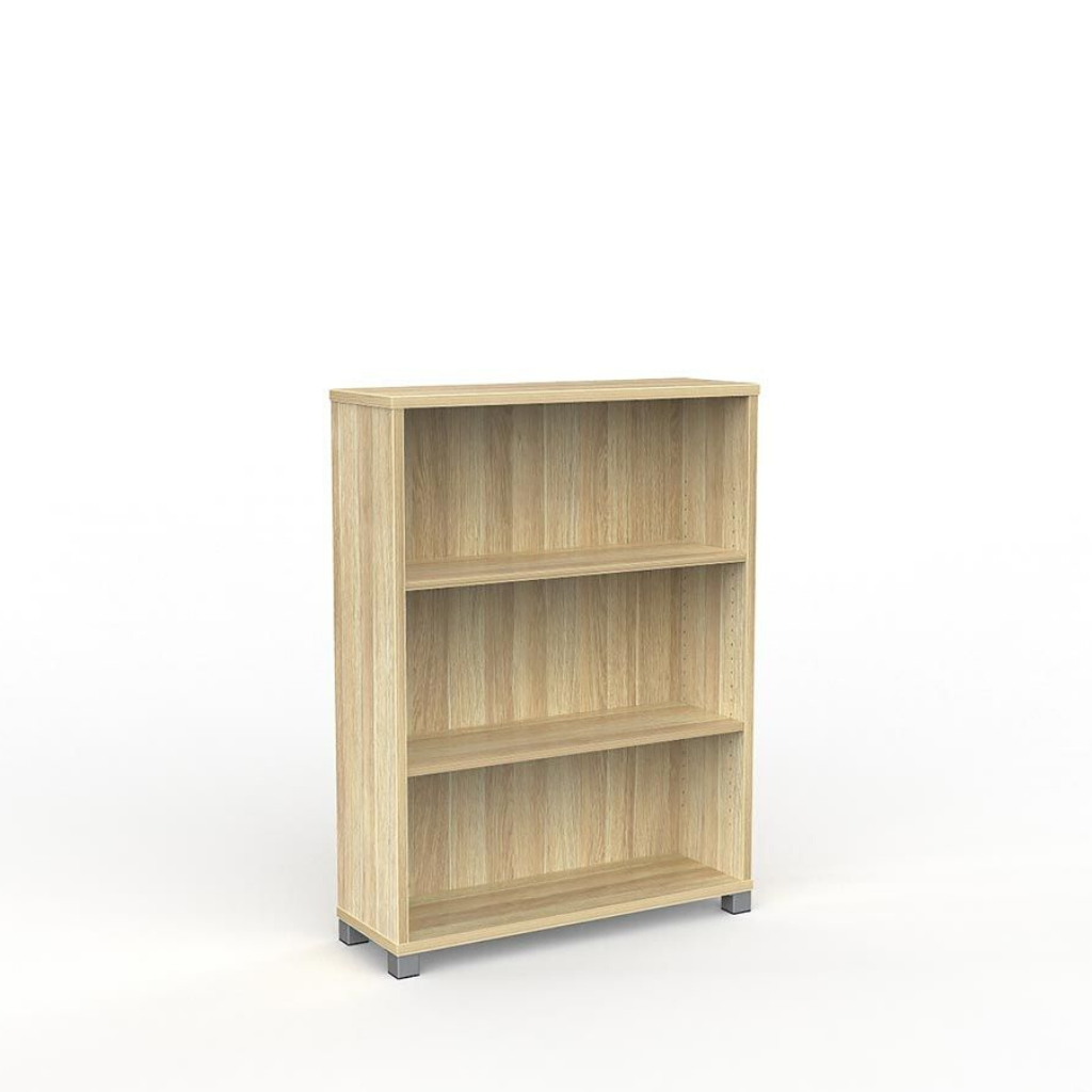 STORAGE Cubit Bookcase 1200mm High Atlantic Oak