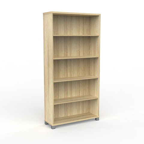 STORAGE Cubit Bookcase 1800mm High Atlantic Oak