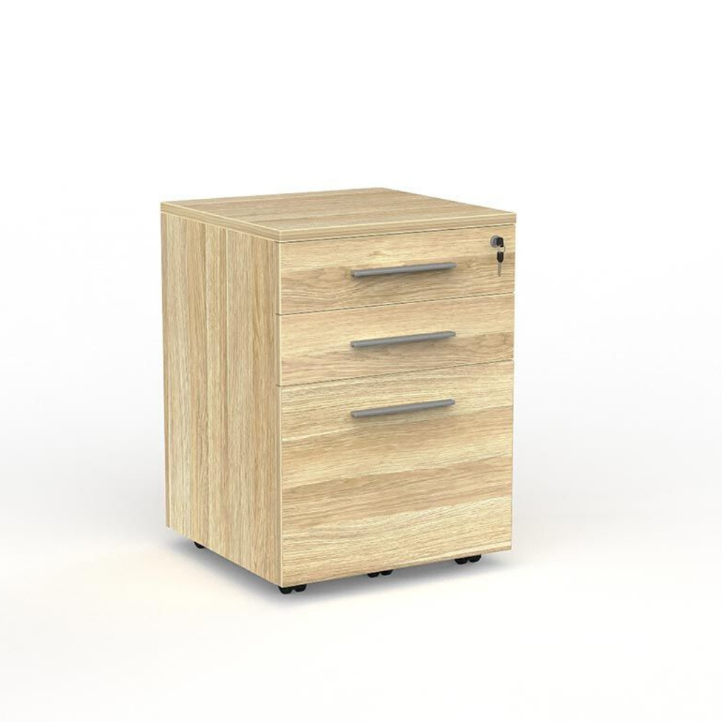 DESK CUBIT MOBILE DRAWS 2+1 Atlantic Oak