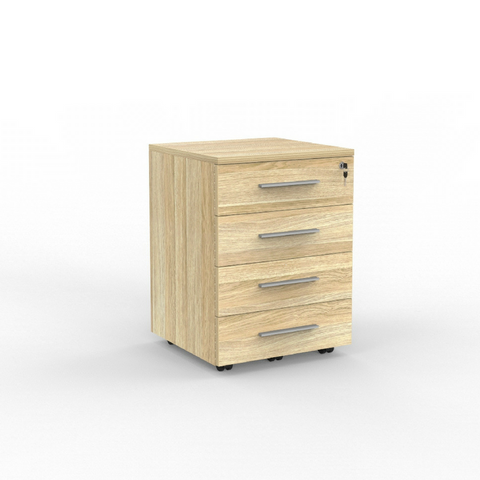 DESK CUBIT Atlantic Oak MOBILE DRAWS 4 Draws
