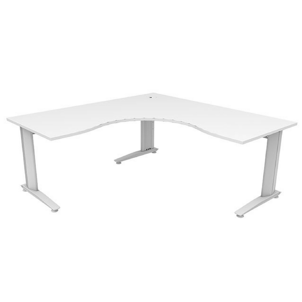 Energy 90 degree Workstation - White Top