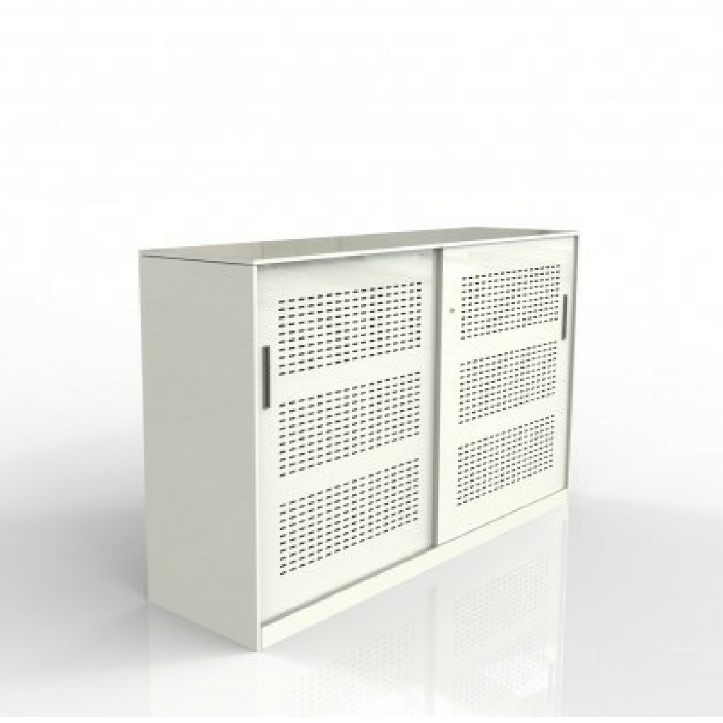 Europlan Steel Slider Door Cabinet White