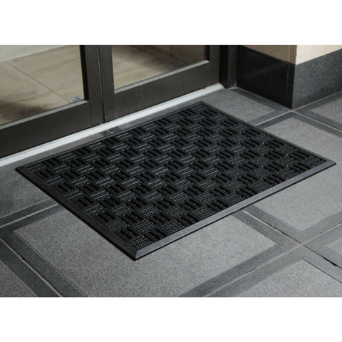 EntryZone Mat Texas Black Heavy Duty Rubber