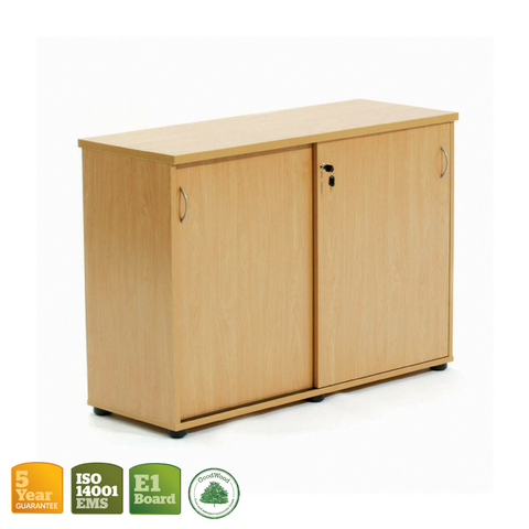 Ergoplan Credenza with Sliding Doors Tawa 1200mm