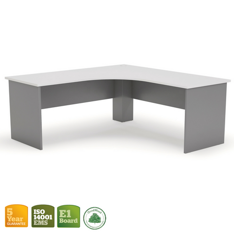 Ergoplan Workstation Silver with White Top