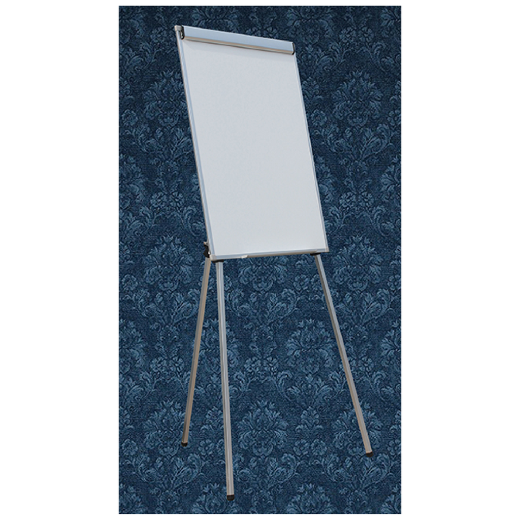 Lacquered Steel Flipchart Presenter with Whiteboard & Telescoopic Legs 600x900mm