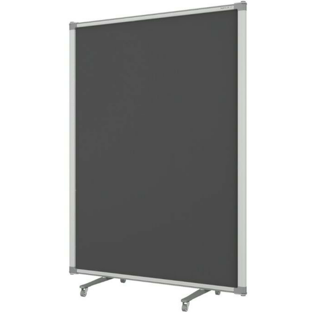 Z Partition Free Standing- Charcoal Fabric