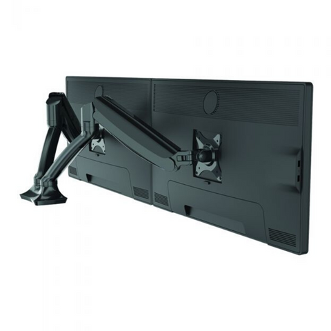 MONITOR ARM GLADIUS DOUBLE BLACK