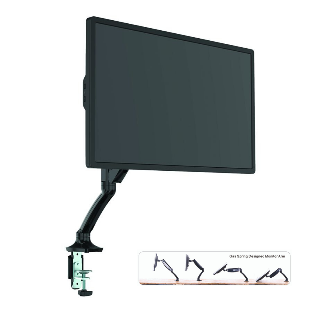 MONITOR ARM GLADIUS SINGLE BLACK