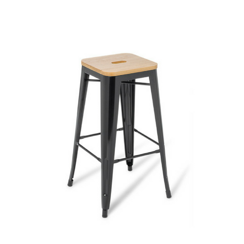Industry Bar Stool With Ash Timber Top