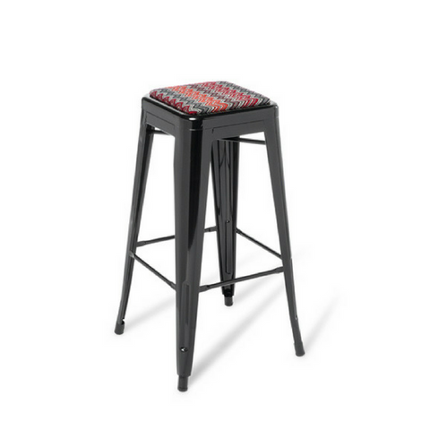 Industry Bar Stool with Upholstered Soft Seat