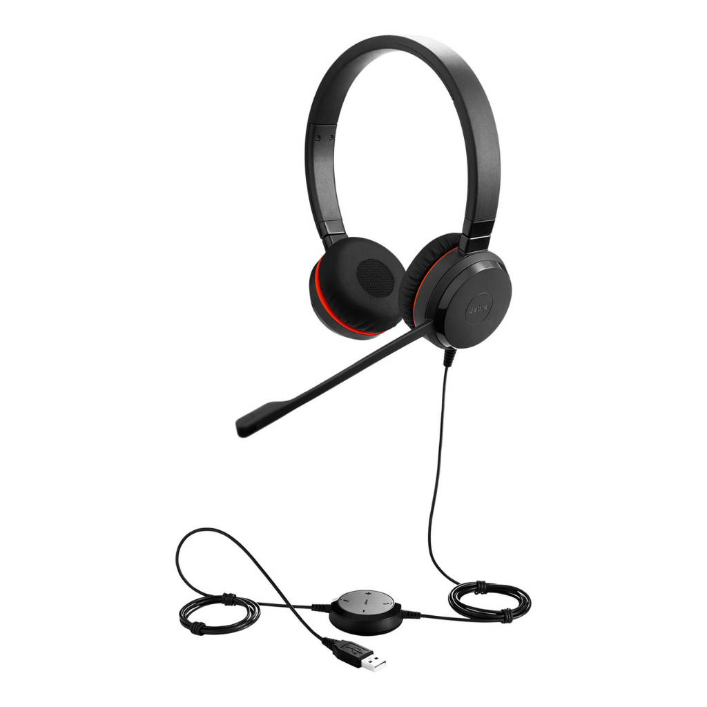 Jabra Evolve 30 II UC Stereo Corded Headset Over-the-head & Behind-the-neck USB & 3.5 mm Jack_Duo Ear