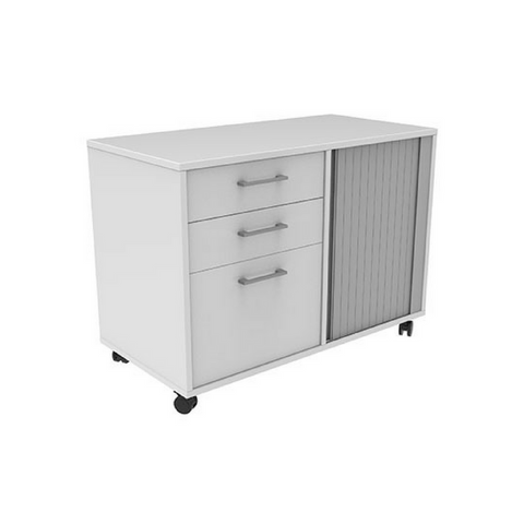 Mascot Mobile Caddy with Drawers & Tambour Storage 650x900x450