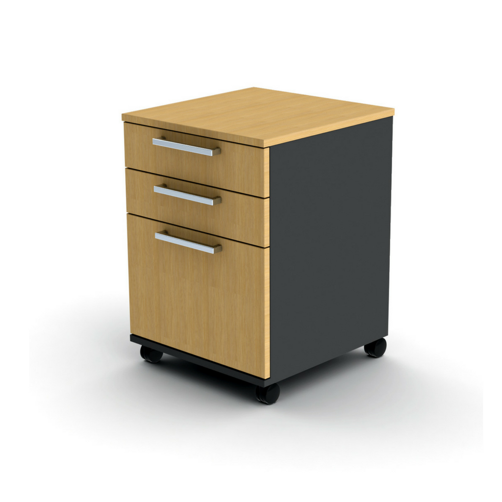 OPD Mobile Drawer Beech and Ironstone