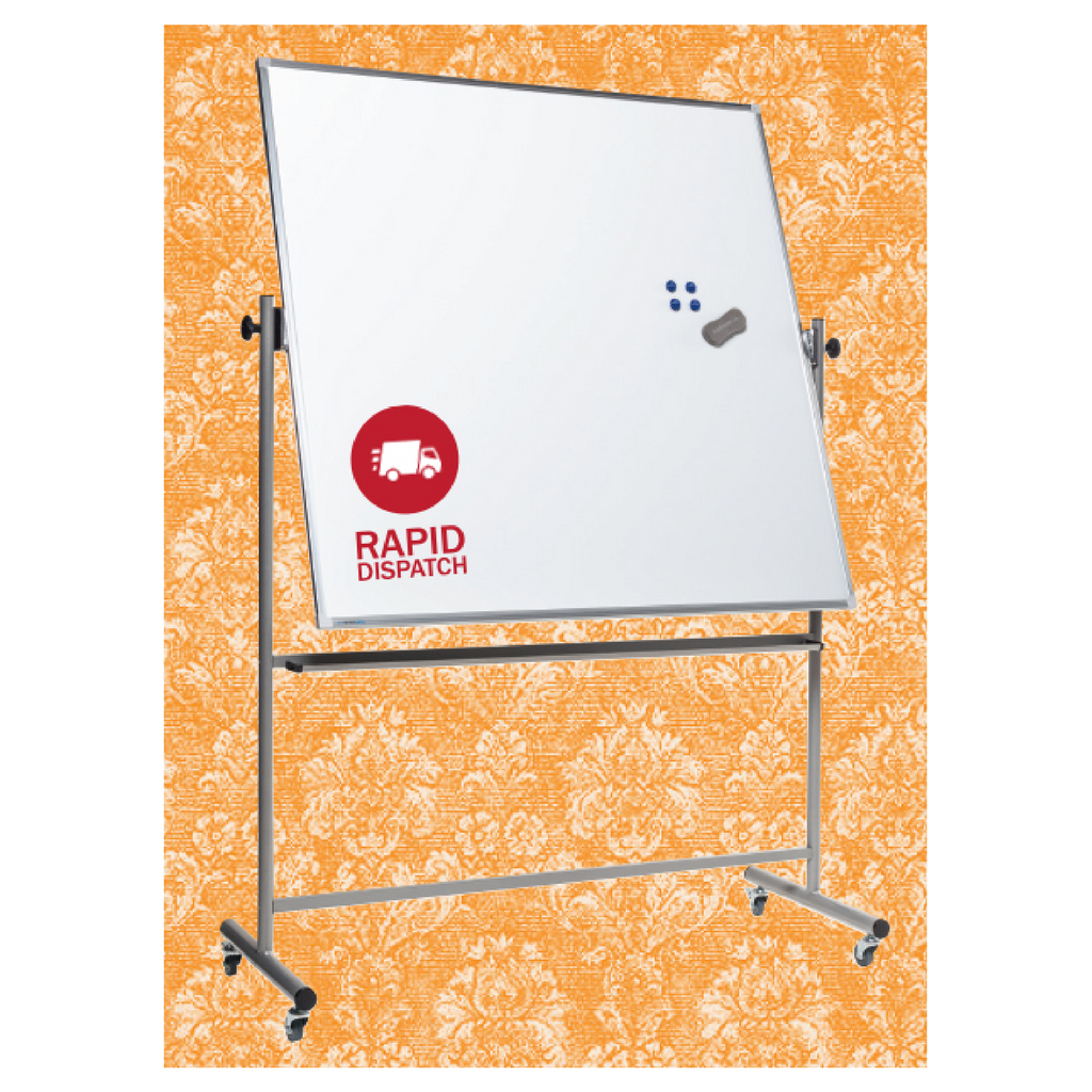 Lacquered Steel Mobile Pivoting Whiteboard