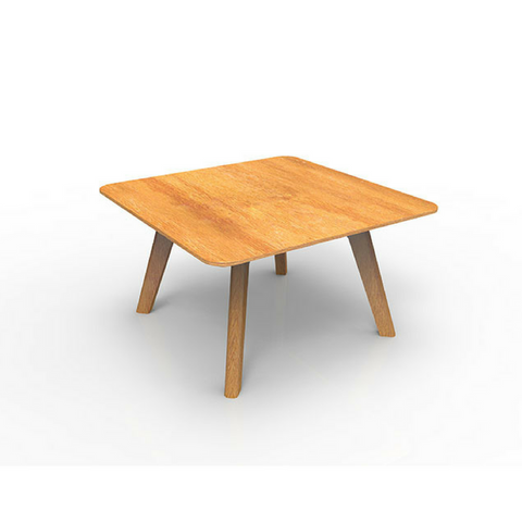 Oslo Relax Coffee Table Square, Ash Timber Base