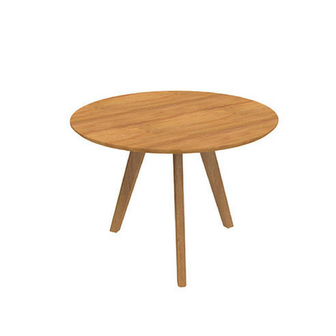 Oslo Relax Coffee Table Round, Ash Timber Base
