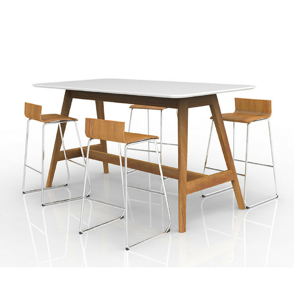 Oslo Standing Leaner Table, Ash Timber Base