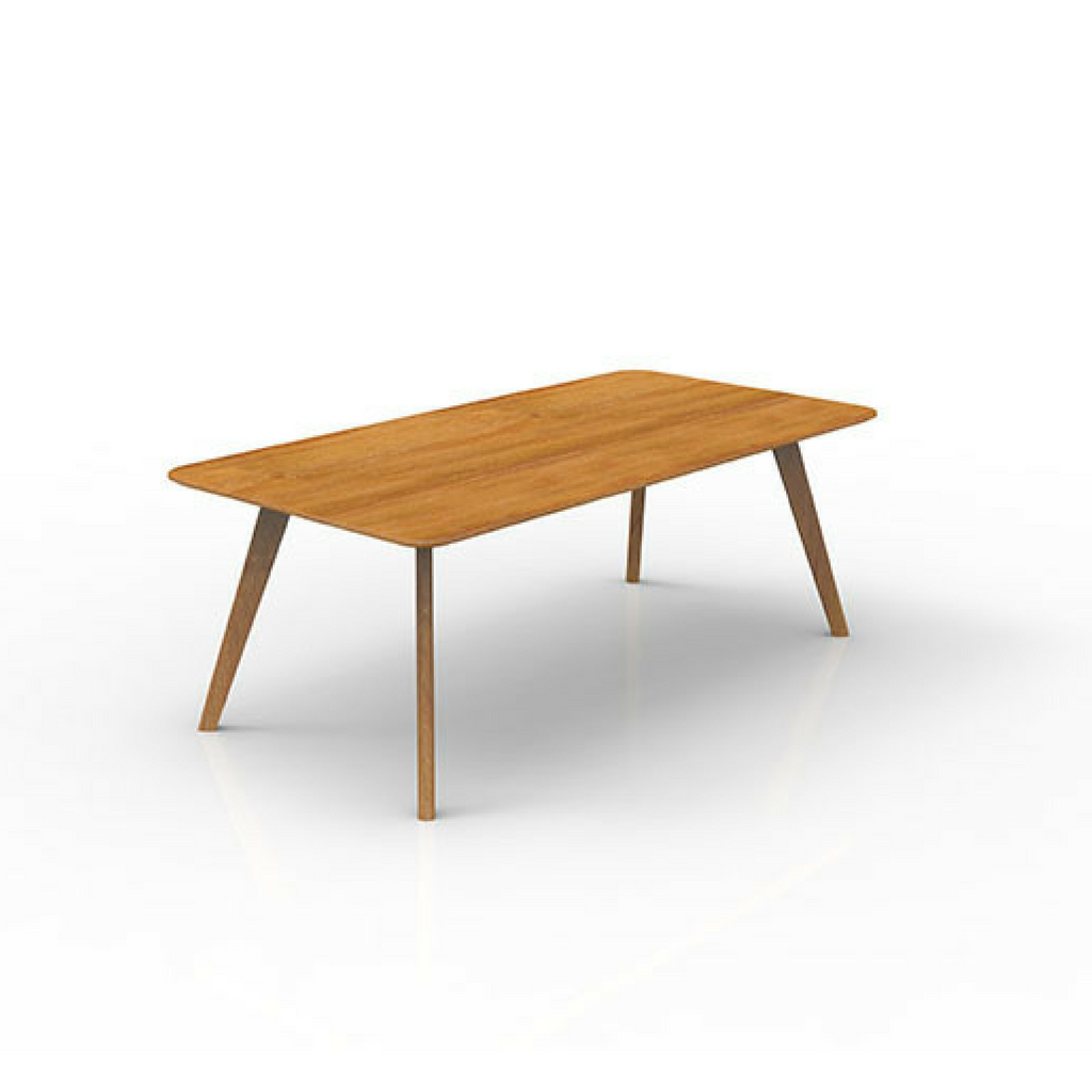 Oslo Sit DownTable, Ash Timber Base with Ash Timber Veneer Top