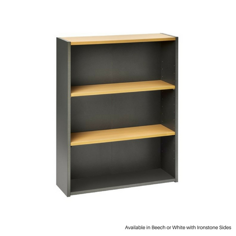 OPD Pulse Bookcase OB515, 1200mm, Ironstone