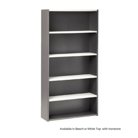 OPD Pulse Bookcase OB215, 1800mm, Ironstone
