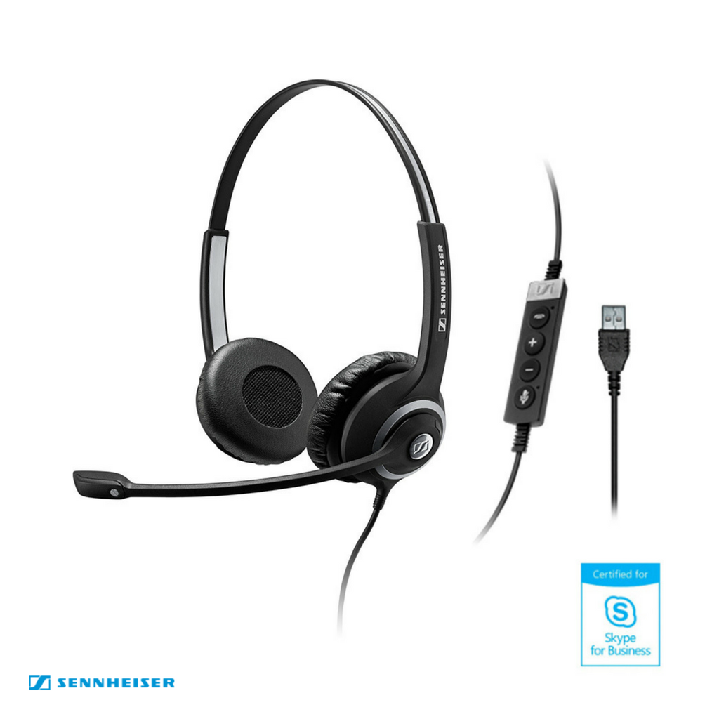 Sennheiser Circle™ SC 260 USB MS II Binaural Wired Headset – Skype for Business