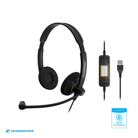 Sennheiser Culture™ SC 60 USB MS Binaural Wired Headset - Skype for Business
