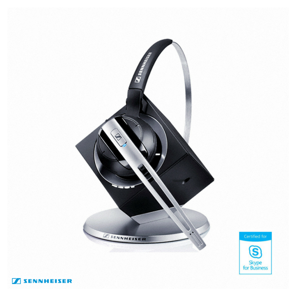 Sennheiser DW Office MS Wireless DECT Office Headset with Base Station - Skype for Business