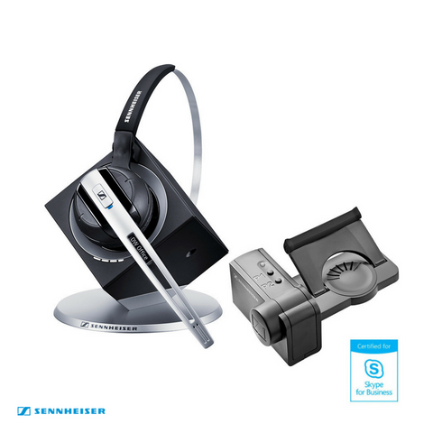 Sennheiser DW Office MS Wireless DECT Office Headset with Base Station & HSL10 Lifter - Skype for Business - for Deskphone & PC