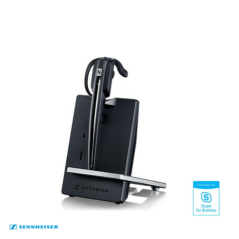 Sennheiser D 10 Wireless DECT Headset with Base Station - Skype for Business