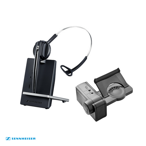 Sennheiser DW Office Wireless DECT Office Headset with Base Station & HSL10 Lifter - for Deskphone & PC