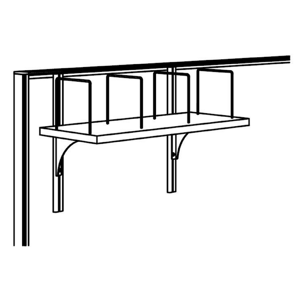 Studio 50 Adjustable Shelf 600 x 290mm - Silver