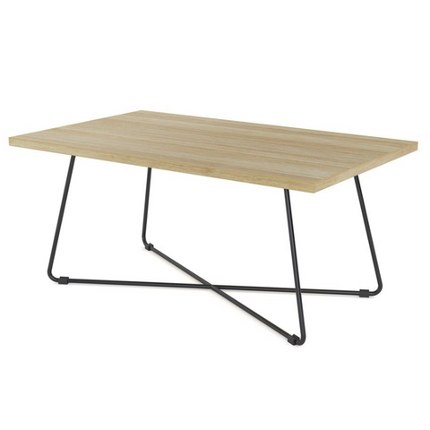 Zion Criss Cross Coffee Table Rectangle 1000x600mm