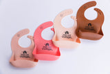 "Silicone Baby Bib (""Start with Bismillah"" in Peach)"