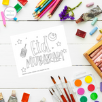 Eid Color-in Post Card (Digital Download)