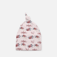 Personalized Arabic Baby Knotted Baby Cap - Floral