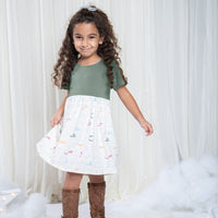 LUXE LINE: Arabic Alphabet Dress for Infants and Toddlers